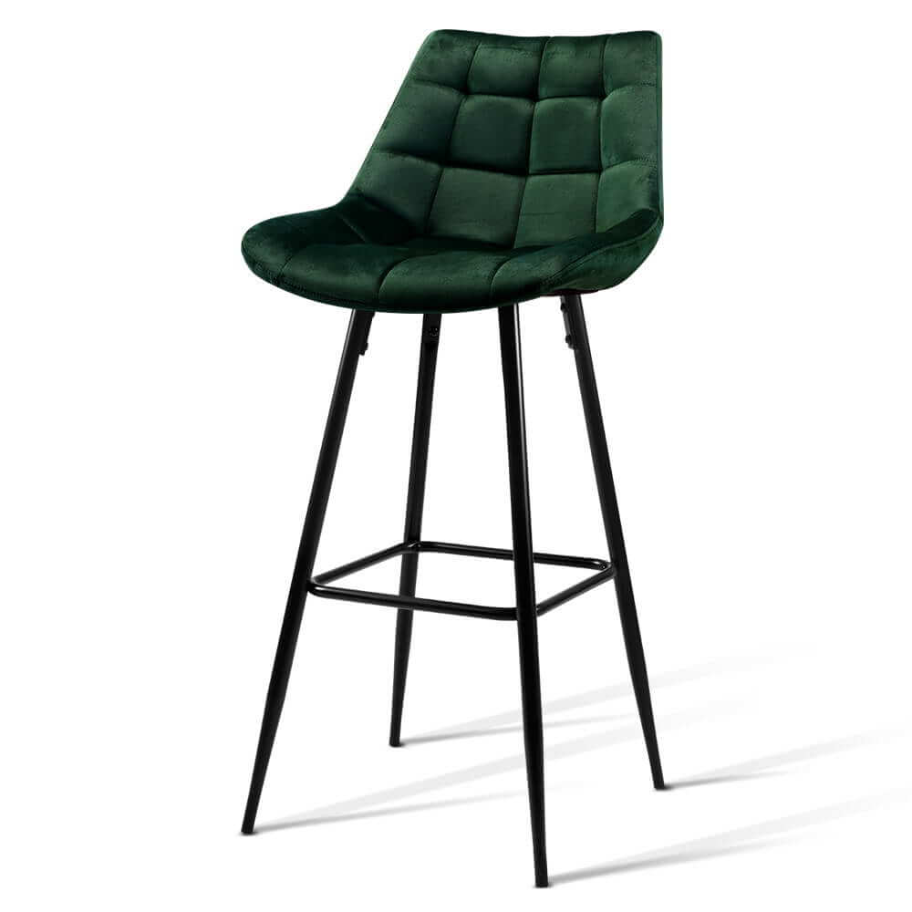 artiss kitchen bar stools velvet bar stool counter chairs